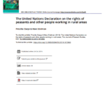 The United Nations Declaration on the rights of peasants and other people working in rural areas