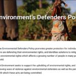 UN Environment's environmental defenders policy