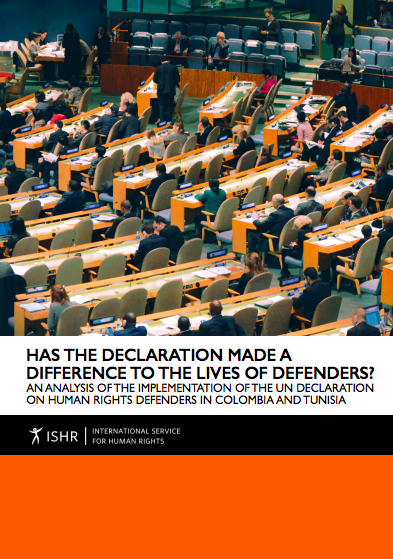 Has the Declaration Made a Difference to the Lives of Defenders?