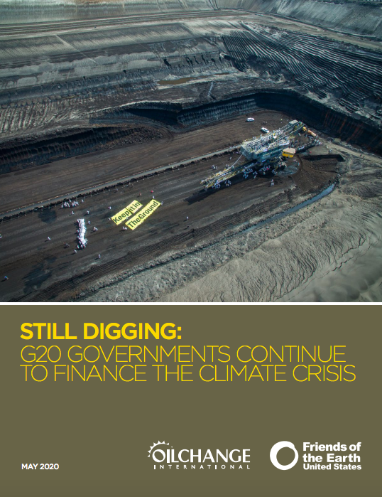 Still Digging: G20 Governments Continue to Finance the Climate Change