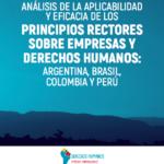 Análisis de la Aplicabilidad de los Principios Rectores Sobre Empresas y Derechos Humanos: Argentina, Brasil, Colombia, Perú
