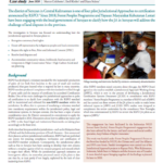 Case study: Preliminary findings from a Review of the Jurisdictional Approach initiative in Seruyan, Central Kalimantan, Indonesia