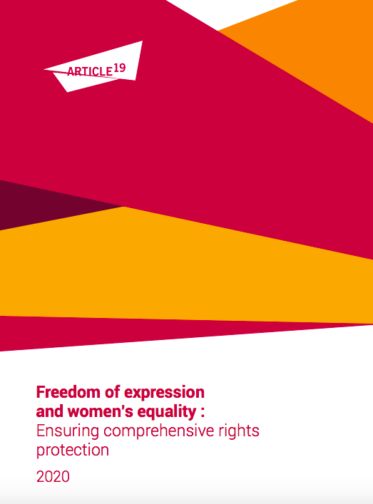 Freedom of expression and women's equality : Ensuring comprehensive rights protection