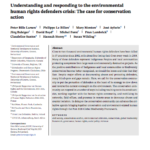 Understanding and responding to the environmental human rights defenders crisis: The case for conservation action