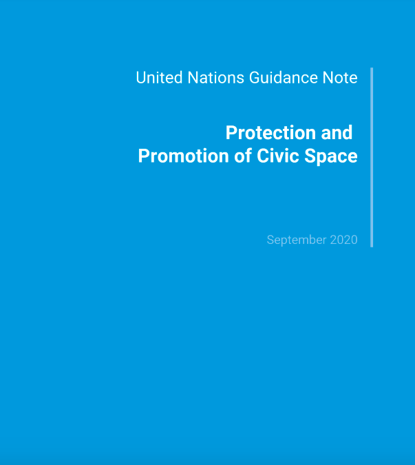 UN Guidance Note: Protection and Promotion of Civic Space