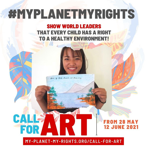 Call for art: Show world leaders that every child deserves a right to a healthy environment!