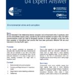 Environmental Crime and Corruption