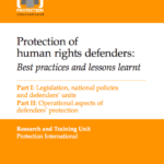 Protection of Human Rights Defenders, Best Practices and lessons learnt
