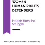 Women Human Rights Defenders: Insights from the Struggle