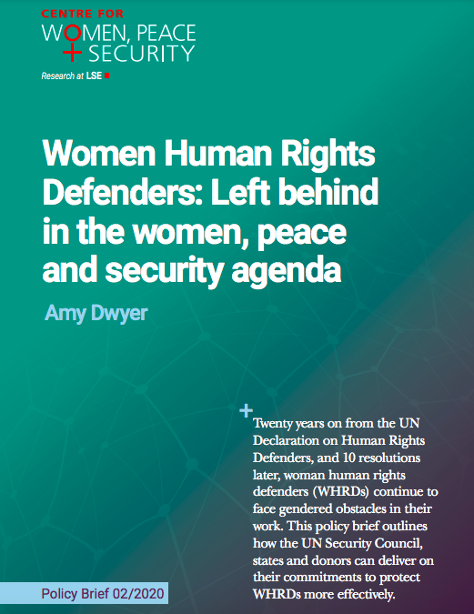 Women Human Rights Defenders: Left behind in the women, peace and security agenda