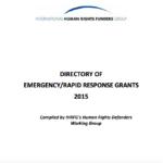 Directory of Emergency/Rapid Response Grants